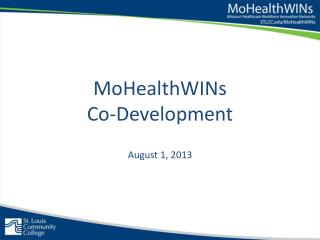 MoHealthWINs  Co-Development