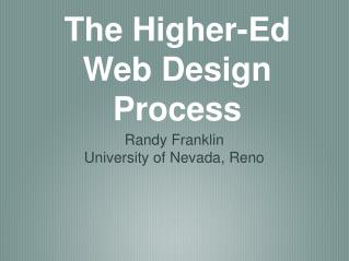 The Higher-Ed Web Design Process
