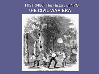 HIST 3480: The History of NYC