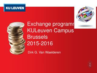 Exchange  programmes  KULeuven Campus Brussels 2015-2016