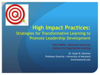 High Impact Practices: Strategies for Transformative Learning to Promote Leadership Development