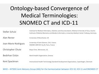 Ontology-based Convergence of  Medical Terminologies:  SNOMED  CT  and ICD-11
