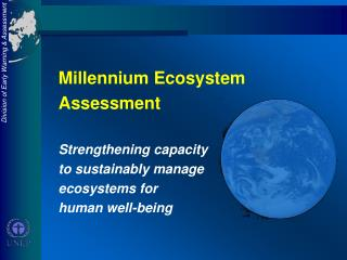 Millennium Ecosystem Assessment Strengthening capacity   to sustainably manage  ecosystems for