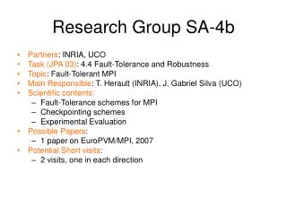 Research Group SA-4b