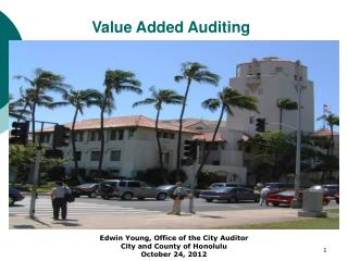 Value Added Auditing