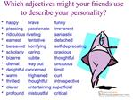 Which adjectives might your friends use to describe your personality