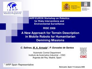 A New Approach for Terrain Description in Mobile Robots for Humanitarian Demining Missions