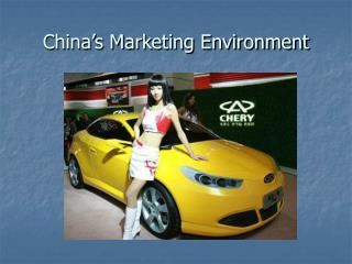 China's Marketing Environment
