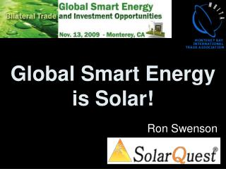 Global Smart Energy is Solar!