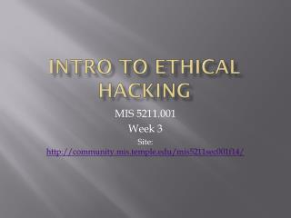 Intro to Ethical Hacking