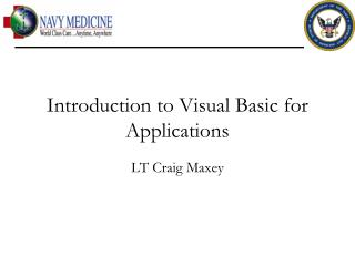 Introduction to Visual Basic for Applications