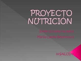 PROYECTO NUTRICIÓN