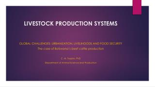 LIVESTOCK PRODUCTION SYSTEMS