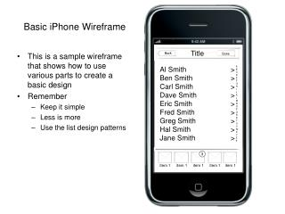 Basic iPhone Wireframe