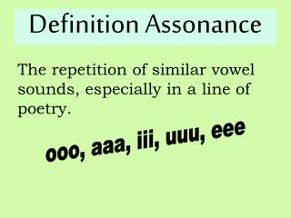 Definition Assonance
