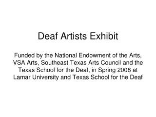 Deaf Artists Exhibit