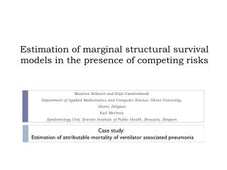 Estimation of marginal structural survival models in  the  presence of  competing risks