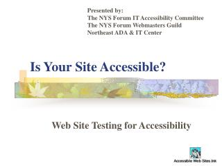 Is Your Site Accessible?