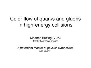 Color flow of quarks and gluons in high-energy collisions