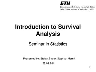 Introduction to Survival  Analysis
