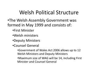 Welsh Political Structure