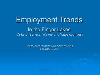 Private Sector Industries with Largest Employment, 2005 Finger Lakes WIB