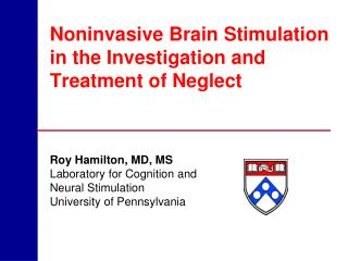 Noninvasive Brain Stimulation in the Investigation and Treatment of Neglect