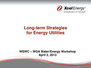 Long-term Strategies  for Energy Utilities