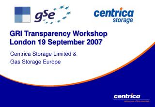 GRI Transparency Workshop London 19 September 2007