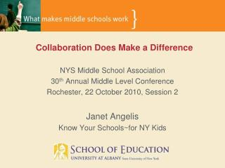 NYS Middle School Association 30 th  Annual Middle Level Conference