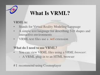 What Is VRML?