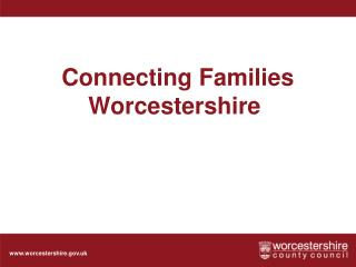 Connecting Families Worcestershire