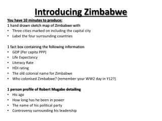 Introducing Zimbabwe