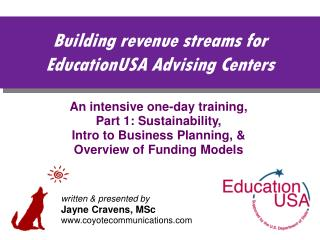 Building revenue streams for EducationUSA Advising Centers