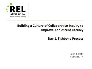 Building a Culture of Collaborative Inquiry to Improve Adolescent Literacy Day 1, Fishbone Process