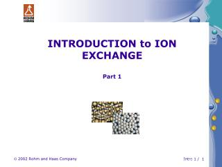 INTRODUCTION to ION EXCHANGE Part 1