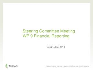 Steering Committee Meeting  WP 9 Financial Reporting