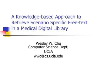 A Knowledge-based Approach to Retrieve Scenario Specific Free-text in a Medical Digital Library