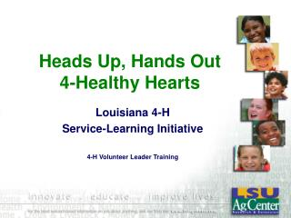 Heads Up, Hands Out  4-Healthy Hearts