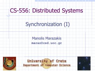CS-556: Distributed Systems