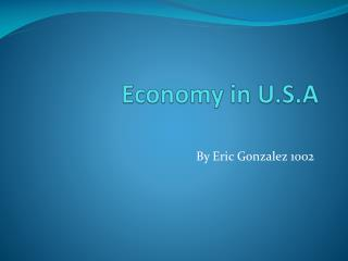 Economy in U.S.A
