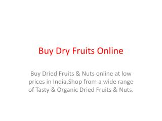 Online Dry Foods Shopping