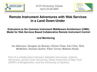 Remote Instrument Adventures with Web Services in a Land Down-Under