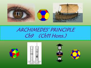 ARCHIMEDES' PRINCIPLE Ch9    (Ch11 Hons.)