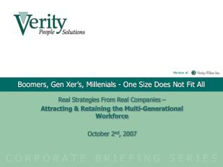 Boomers, Gen Xer's, Millenials - One Size Does Not Fit All