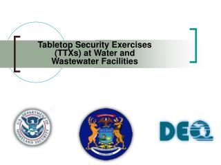 Tabletop Security Exercises (TTXs) at Water and Wastewater Facilities