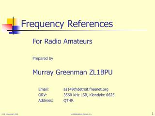 Frequency References