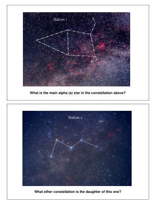 What is the main alpha (a) star in the constellation above?