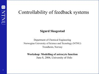 Controllability of feedback systems