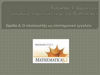 Εργασία 3: Δημιουργία γραφικών παραστάσεων με την Mathematica